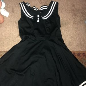 Hellbunny Sailor Pinup Dress